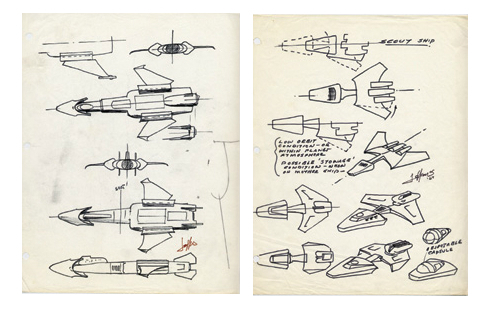 Early concepts for the Leif Ericson and Scoutship